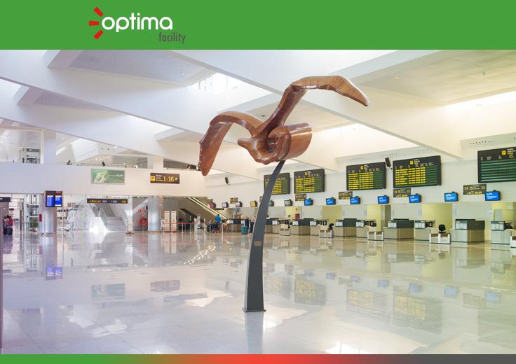 Aena sigue confiando en Optima y le adjudica la limpieza y desinfección de cinco aeropuertos españoles